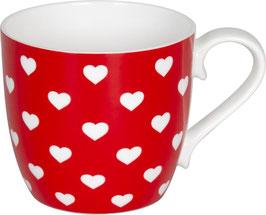 Porzellan Becher HEARTS STRAWBERRY