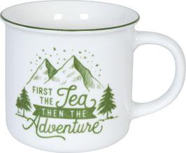 Porzellan Becher CAMPER TEA
