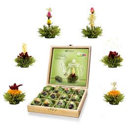 "12er ErblühTee Holzbox ""Grüner Tee"""