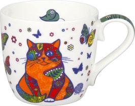Porzellan Becher COLOURFUL CAT