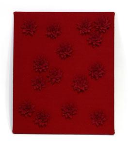 Stenski panel iz filca z lilijami