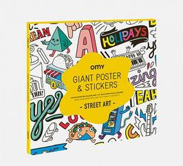 Poster Street art z nalepkami