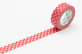 Washi lepilni trak - dot red base