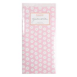 Papirnate vrečice - roza z rožicami