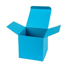 Darilna škatlica - Cube M - v modri barvi atlantic