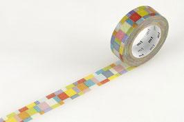 Washi lepilni trak - mosaic bright