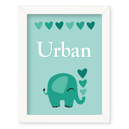"Individualizirana deška grafika z motivom slončka ""Urban"""