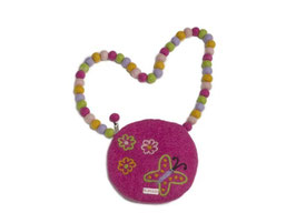 Otroška torbica z metuljčkom in rožicami