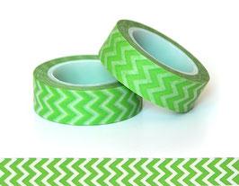 Washi lepilni trak - zelen cik cak vzorec