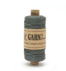 Lanena dekorativna vrvica garn - siva