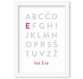 Individualizirana grafika z motivom abecede