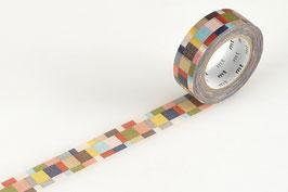 Washi lepilni trak - mosaic greyish