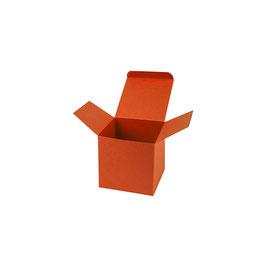 Darilna škatlica - Cube S - v oranžni barvi