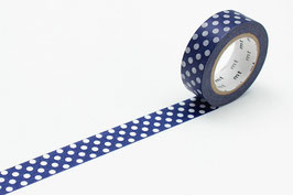 Washi lepilni trak - dot blue base