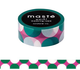 Washi lepilni trak - Retro Dot / Multi