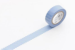 Washi lepilni trak - stripe light blue
