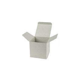 Darilna škatlica - Cube S - v svetlo sivi batvi / platinum
