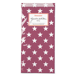 Papirnate vrečice - temno-rdeče z belimi zvezdami
