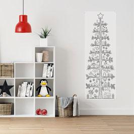 XMAS Paper Tree - XL poster / pobarvanka v črni barvi