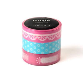 Set washi lepilnih trakov - Photo deco / Fuchsia pink