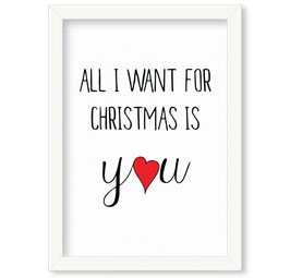"Grafika ""All I want for Christmas"""