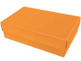 Darilna škatlica - velikost XL v rumeno-oranžni (mandarin) barvi