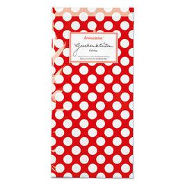 Papirnate vrečice - rdeče z belimi pikami