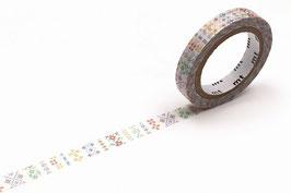 Washi lepilni trak - ozki - embroidery line