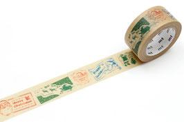Washi lepilni trak - Santa Claus stamp