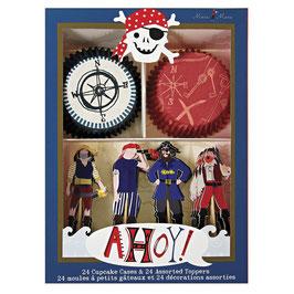 Paket za okrasitev mafinov - ahoy pirate!