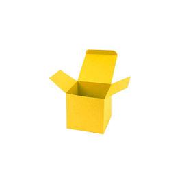 Darilna škatlica - Cube S - v živo rumeni barvi