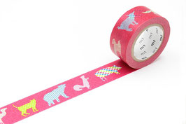 Washi lepilni trak - animal dot