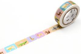 Washi lepilni trak - geometric animals