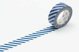 Washi lepilni trak - stripe marine blue