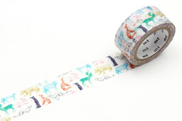 Washi lepilni trak - Winter animals