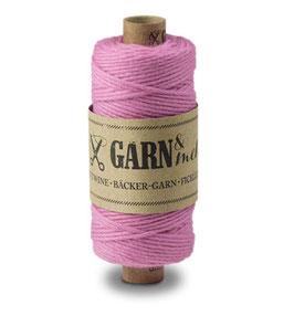 Bombažna dekorativna vrvica garn - enobarvna roza