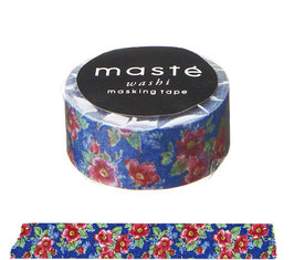 Washi lepilni trak - Flower / Blue