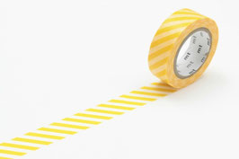 Washi lepilni trak - stripe yellow