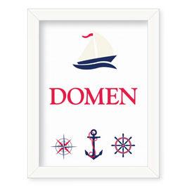 "Individualizirana deška grafika z mornarskim motivom ""Domen"""
