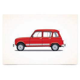 """Razglednica """"Renault 4"""""""