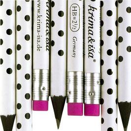 Svinčnik - bel s črnimi pikami