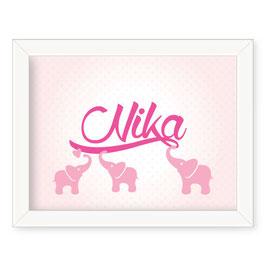 "Individualizirana deška grafika s tremi slončki ""Nika"""