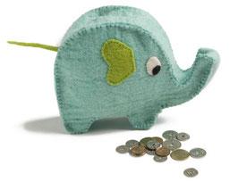 Slonček - hranilnik za kovance