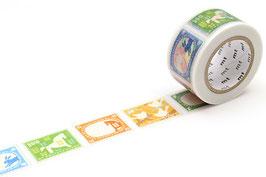Washi lepilni trak - Postage stamp