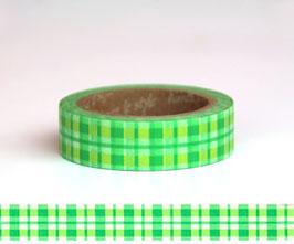 Washi lepilni trak - Tartan Green