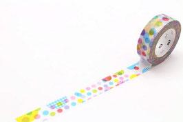Washi lepilni trak - random dot
