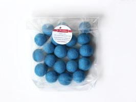 Set 20 barvnih kroglic iz filca - modre