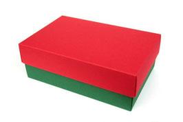 Darilna škatlica - velikost M v rdeče-temno zeleni barvi