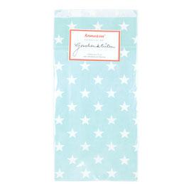Papirnate vrečice - turkizne z rožicami