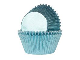 """Papirčki za mafine - svetlo modri """"baby blue"""" s sijajem"""